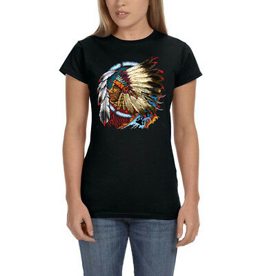 Native American Indian Chief Dream Catcher Feather Ladies Womens T-Shirt Tee