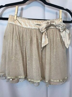 Justice Girls size 10 champagne Sparkle  skirt