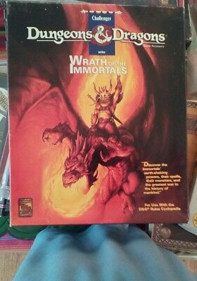 Wrath of the Immortals boxed set new DUNGEONS & DRAGONS AD&D D&D
