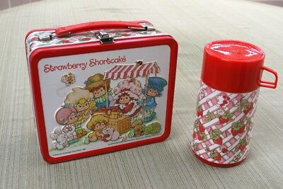 vintage strawberry shortcake lunchbox with thermos