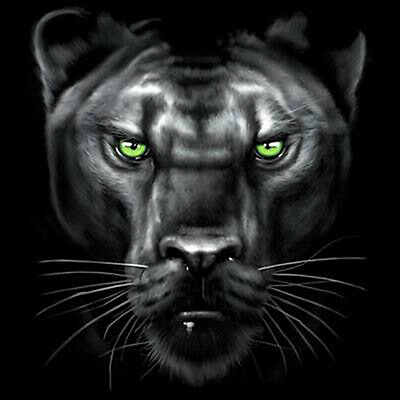Majestic Black Panther Face Jungle Cat Animal Design Animal T-Shirt Tee