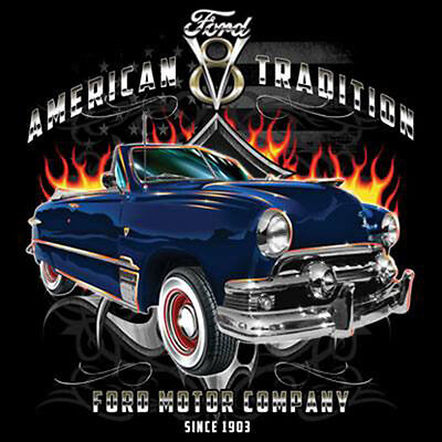 Ford Motor Company American Tradition Since 1903 Classic Hot Rat Rod T-Shirt Tee