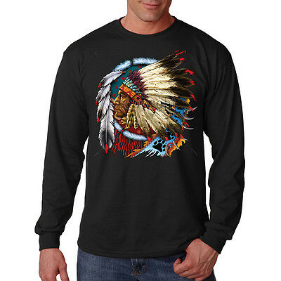 Dream Catcher Native American Indian Chief Feathers Long Sleeve T-Shirt Tee