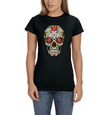 Hockey Mask Sugar Floral Skull Calavera Cross Dia de Muertos Boy Beater Tank Top