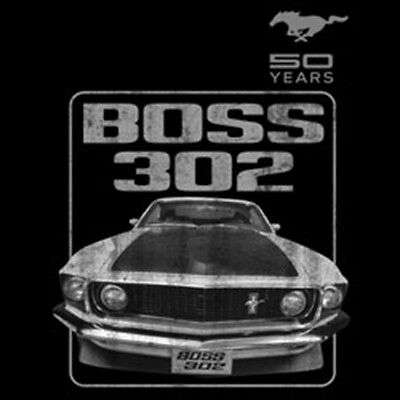 Ford Mustang 50 Ans Boss 302 Classic Muscle Voiture Hot Rod T-shirt à manches longues