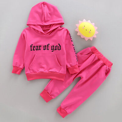Baby Girls Tracksuit Kids Infant Girl Outfits Clothes Sports Sets Hoodies +Pants
