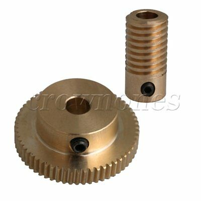 0.5 Modulus 5mm Hole Dia Brass Worm Gear Shaft Gear Wheel of 60 Teeth