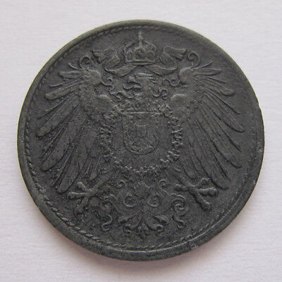 1922  GERMANY 10 PFENNIG ZINC  COIN - CIRCULATED (Corroded)