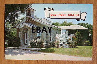 ST25- Fort Sill OK postcard -Old Post Chapel  Ranald Mackenzie 1960s-70s