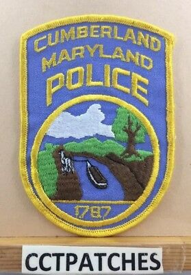 Cumberland, Maryland Police Shoulder Patch Md