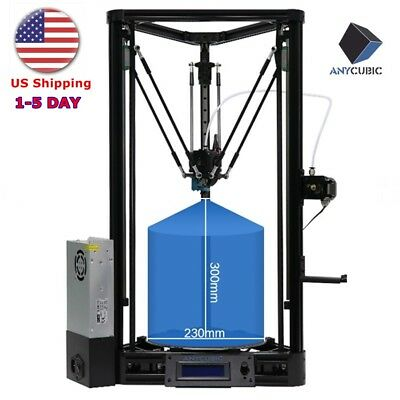 USA shipping ANYCUBIC 3D Printer Upgrade KOSSEL Plus Linear Auto Leveling Delta