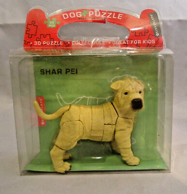 Kikkerland Collectible Shar Pei 3 Dimensional Dog Puzzle 23 Pieces