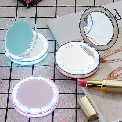LED Lighted Mini Makeup 3X Magnifying Compact Portable Sensing Lighting Mirror