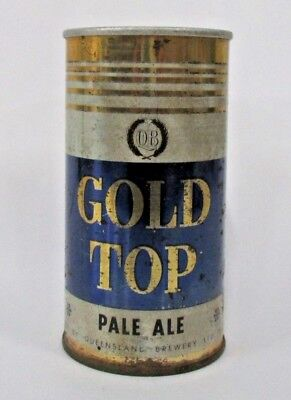 QB Gold Top Pale Ale very rare design pull top 13oz steel collector beer can