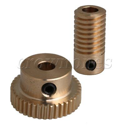 40T 0.5 Modulus 1:40 Brass Worm Wheel & 5MM Hole Dia Shaft for Gear Box