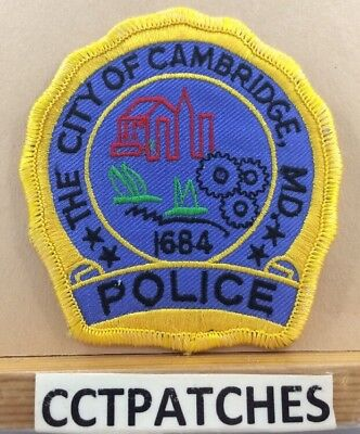 City Of Cambridge, Maryland Police Shoulder Patch Md
