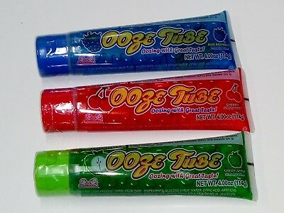 3 Mix Flavour Lolly Gel tube 3 x 114g, Blueberry, Cherry, Green Apple, Kid party