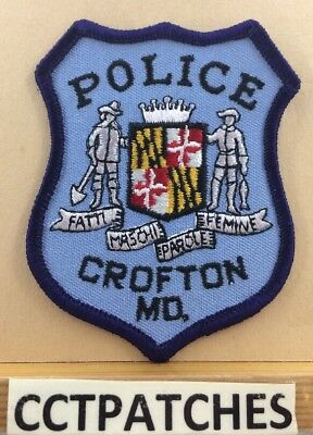 Crofton, Maryland Police Shoulder Patch Md