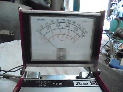 Vintage Snap-on Model MT417 Secondary Tach Dwell Meter
