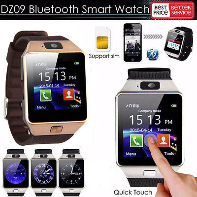 DZ09 Bluetooth Smart Watch Phone Mate GSM SIM For Android iPhone Samsung HTC LG#