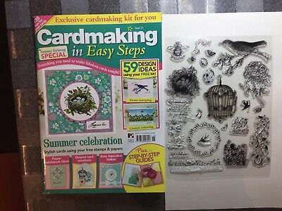 Cardmaking in Easy Steps Magazine  with Summer Birdsong Gift, Issue 15
