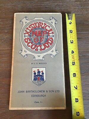 Historical Map of Scotland John Bartholomew & Son LTD Edinburgh Vintage