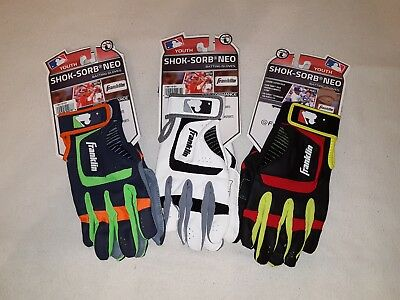 Youth Franklin Shok-Sorb Neo Baseball Batting Gloves - Large - Various Colors