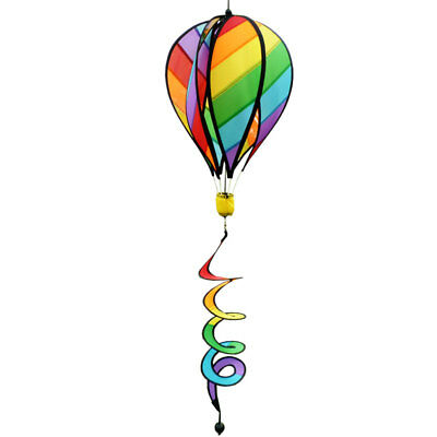 US Striped Rainbow Windsock Hot Air Balloon Wind Spinner Hiking Camping Kid Gift