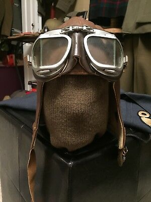 Original WW2 Canadian/Canada Flying Helmet And Goggles