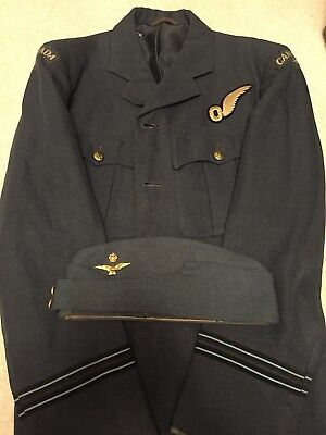 Original WW2 Canadian/Canada Observer Officers Service Tunic And Wedge Cap