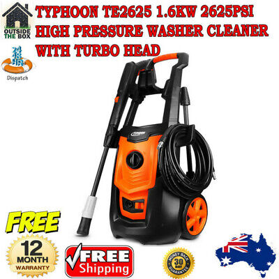 Typhoon TE2625 1.6KW 2625PSI High Pressure Washer Cleaner with Turbo Head