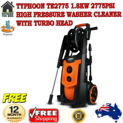 Typhoon TE2775 1.8KW 2775PSI High Pressure Washer Cleaner with Turbo Head