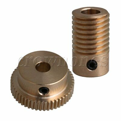 1:50 Brass Worm Gear Shaft & Worm Wheel Kit with 6mm Hole 0.5 Modulus