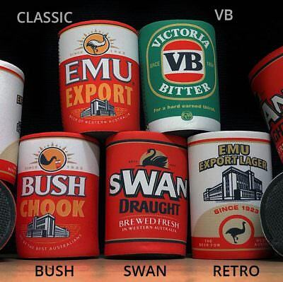 Stubby Holders from Emu Export, Bush Chook, VB & Swan Draught - Hat Shirt