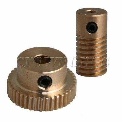 40T 0.5 Modulus 1:40 Brass Worm Wheel&3.17MM Hole Dia Shaft for Gear Box