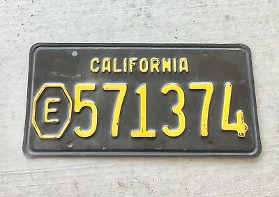 Vintage  California Black License Plate