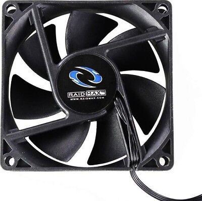 RAIDMAX DC 12V Cooling Fan 80x80x25mm 3-Pin/4-Pin