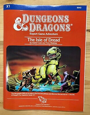 X1 The Isle Of Dread (Red Module) TSR Dungeons & Dragons AD&D D&D