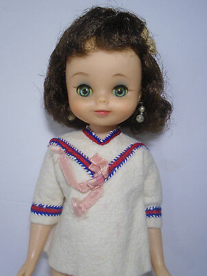 "Vtg American Character 13"" BETSY MC CALL Brunette Doll in School Girl Shirt"