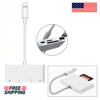 New 4 in 1 Camera Memory Micro SD Card Reader  Lightning to USB For iPAD iPhone