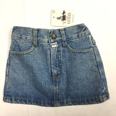 Vintage Baby Guess Skirt Denim 12 Months Pocketless Behind Adjustable BRAND NEW