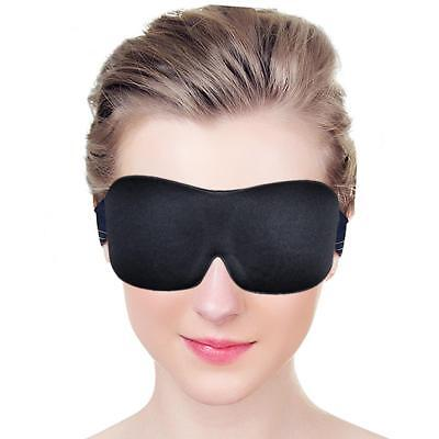 Soft Memory 3D Sleep Eye Mask Foam Padded Shade Cover Travel Sleeping Blindfold