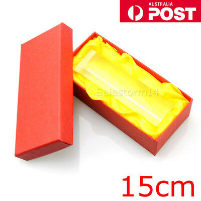 15cm Optical Glass Triple Triangular Prism Physics Teaching Light Spectrum newly