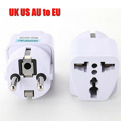 Universal UK/US/AU to EU AC Power Socket Plug Travel Charger Adapter Converter