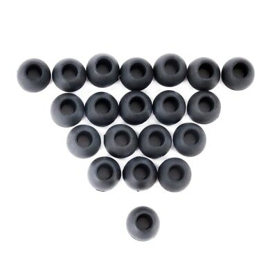 20pcs Black Replacement Silicone Earbud Tips Large Size In-Ear Earphone Covers
