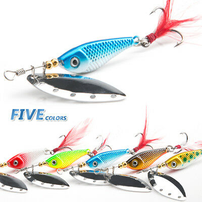 13g 16g Crankbait Spinner Spoon Metal Bait Fishing Lure Sequins Baits Bass Trout