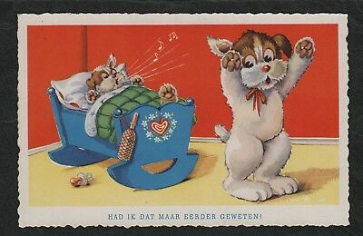 "e1851)            VINTAGE DUTCH COMIC SERIES POSTCARD FROM 1930s ""NETHERLANDS"""