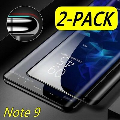 2X For Samsung Galaxy Note 9 Curved 3D Full Tempered Glass Screen Protector LOT