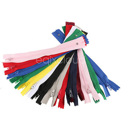 Bulk 30/150/300pcs DIY Nylon Coil Zippers Tailor Sewer Craft 7 Inch Crafter's