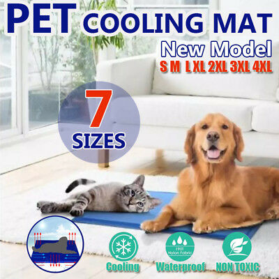 Pet Cool Gel Mat 7 Sizes Dog Cat Bed Non-Toxic Summer Cooling Reusable Pad